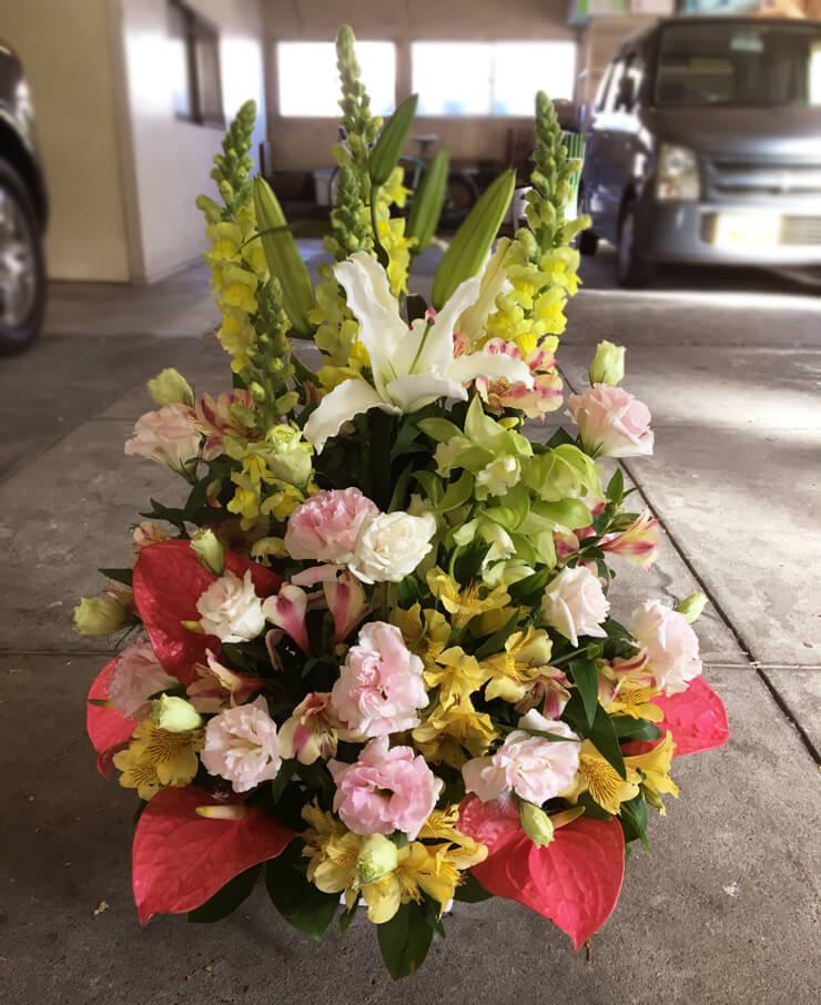 江東区有明 金婚式結婚記念日50周年祝いパステル調の花