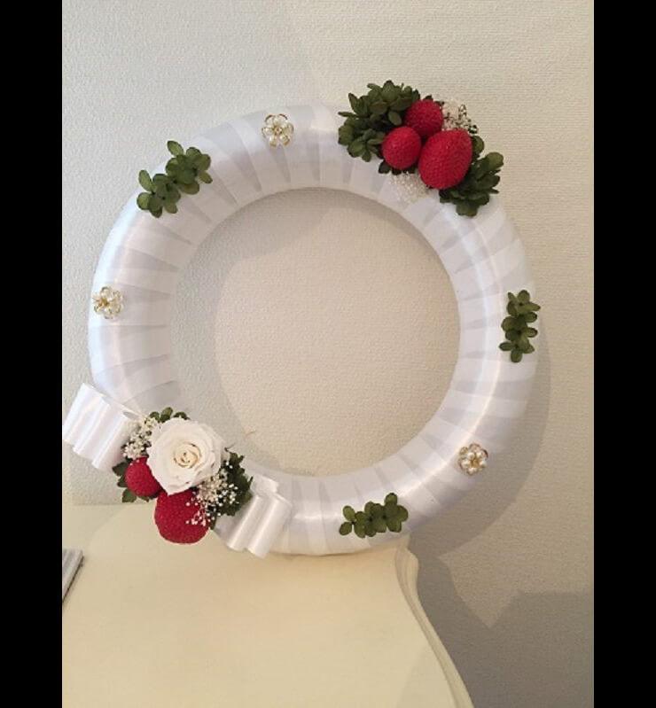 川崎市 誕生日プレゼントの花 プリザーブドフラワーリース