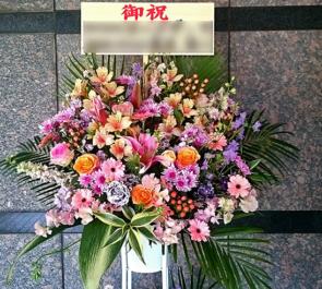 練馬文化センター 東京こども専門学校様の卒業式 優しい色味のスタンド花