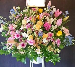 練馬文化センター 卒業式スタンド花