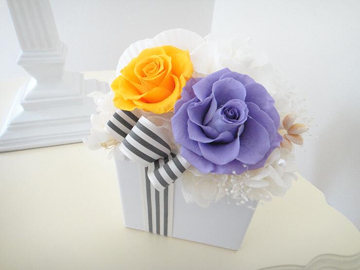 中央区 誕生日プレゼントの花 プリザーブドフラワー