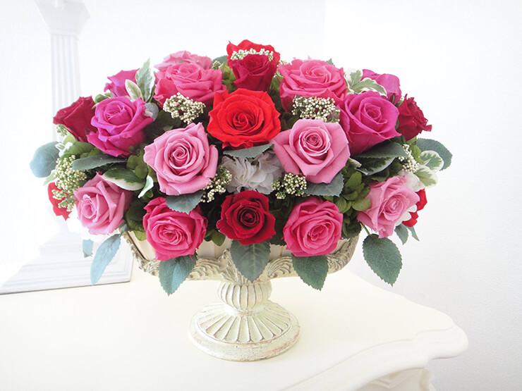 東久留米市 結婚記念日40周年 ルビー婚式にプレゼントされた花