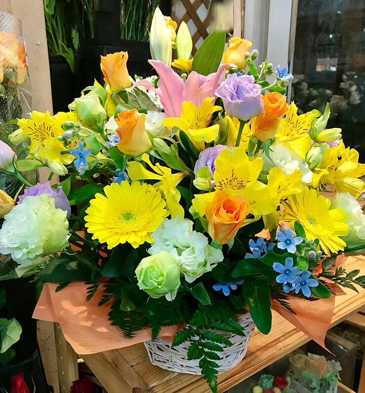 荒川区誕生日プレゼントの花