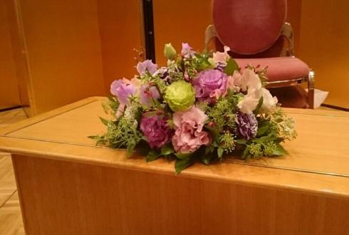 ホテルメトロポリタン受賞祝いパーティー会場装花