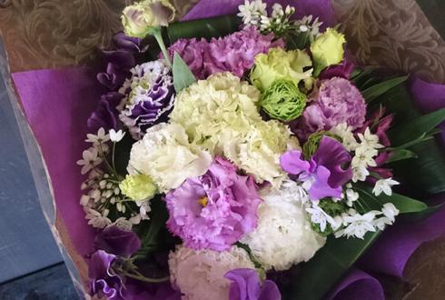 練馬文化センター イベント祝い紫系花束