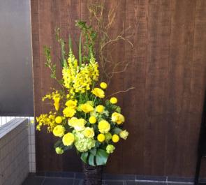 よみうり大手町ホール 白瀬裕大様の舞台籠スタンド花