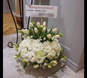 Noela 新宿ルミネエスト店様の開店祝い花 ドームアレンジ
