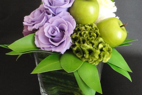 赤坂 昇進祝いにお届けした花 プリザーブドフラワーアレンジメント