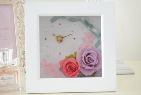 渋谷区神宮前 周年祝い花 プリザーブドフラワー花時計