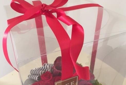 川口市 還暦祝いに赤い花 プリザーブドフラワー