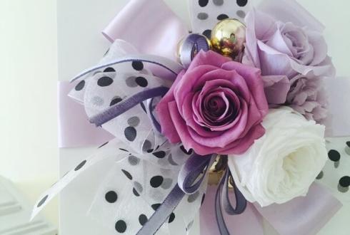 墨田区 70歳の誕生日 古希祝いに紫の花 プリザーブドフラワー
