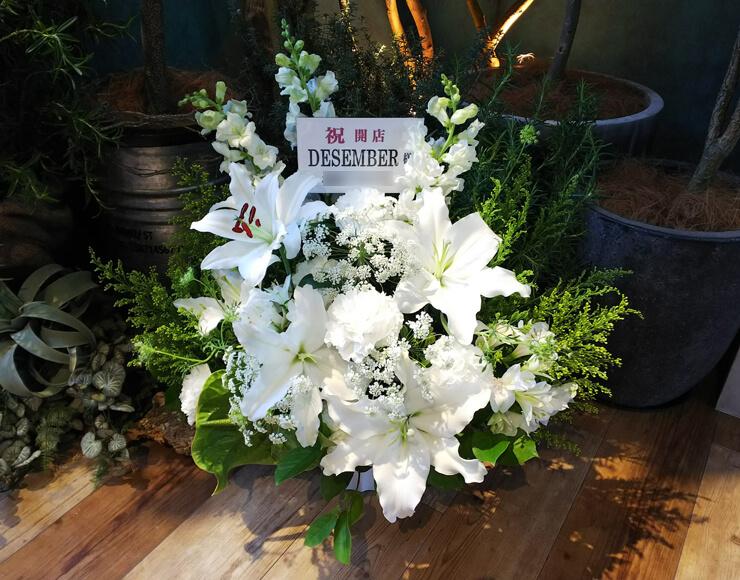原宿 美容室December様の開店祝い花