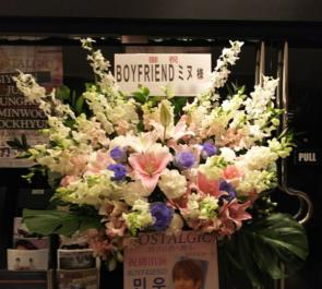 渋谷Mt.RAINIER HALL BOYFRIEND ミヌ様のイベントスタンド花