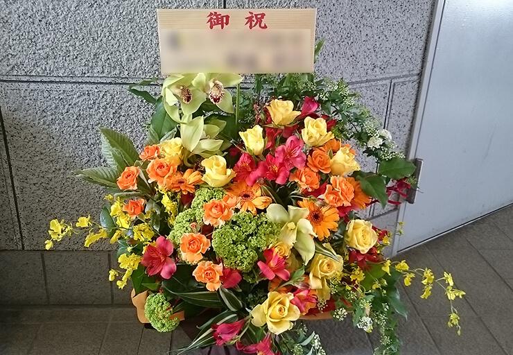 板橋グリーンホール 入社式の花
