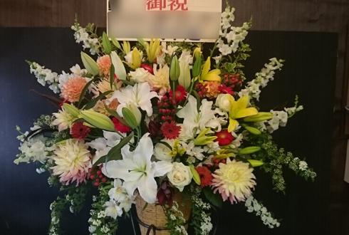 池袋パセラ 入社式 コーンスタンド花