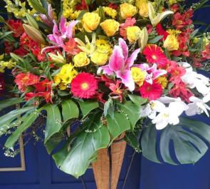 池袋 HAIR MAKE elena様の開店祝いコーンスタンド花