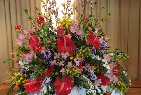 豊島区 都立文京高校様の卒業式用壇上花