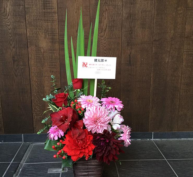 ニッポン放送 健太郎様のラジオパーソナリティ就任 明るく華やかな楽屋花