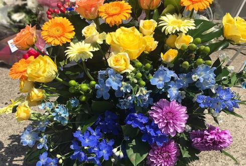幕張メッセ 欅坂46 石森虹花様の握手会祝い花 レインボーアレンジ