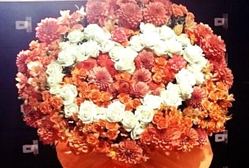 ディファ有明 ぜあらる。様のイベント出演祝いハートスタンド花