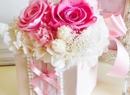港区 プロポーズにサプライズプレゼントの花 プリザーブドフラワー