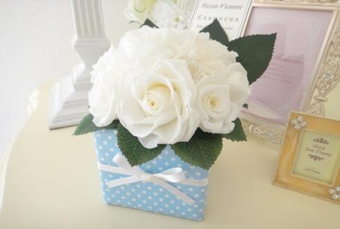 墨田区 プロポーズの花 プリザーブドフラワー white × blue