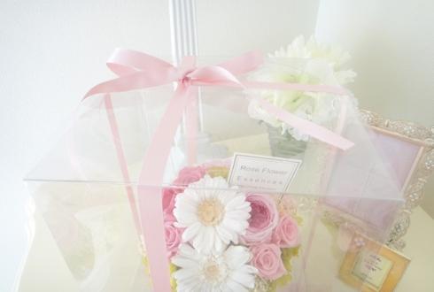 日本橋 プロポーズにピンクの花 プリザーブドフラワーアレンジ