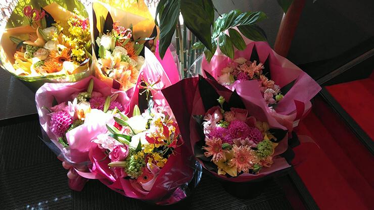 練馬文化センター バレエ発表会の花束
