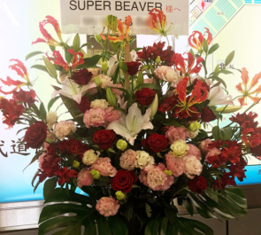日本武道館 SUPER BEAVER様のワンマンライブ公演祝いスタンド花