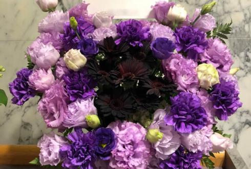 かつしかシンフォニーヒルズ SPRiNGS様のライブ公演祝いハートアレンジ紫・黒