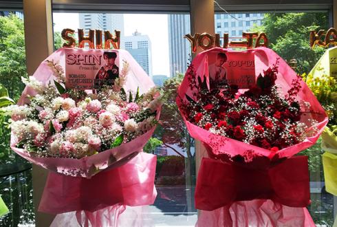 新宿ReNY MADKID様のライブ公演祝い花束風スタンド花 RedPINK