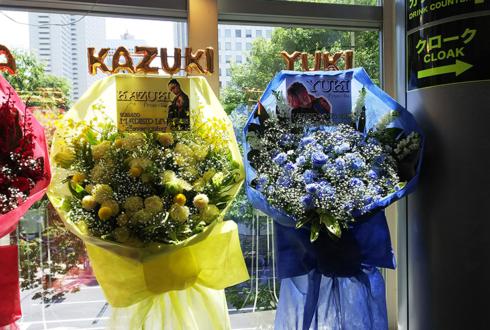新宿ReNY MADKID様のライブ公演祝い花束風スタンド花 BlueYellow