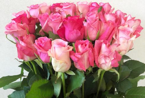 練馬 母の日にピンクバラ花束25本