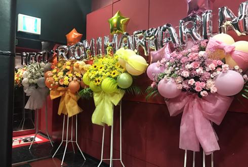 新宿BLAZE KNU様の卒業&活動休止ワンマンライブバルーンスタンド花