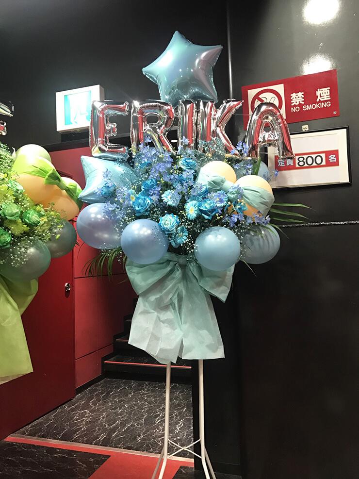 新宿BLAZE KNU 寿エリカ様の卒業&活動休止ワンマンライブバルーンスタンド花