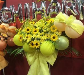新宿BLAZE KNU 長澤ちはる様の卒業&活動休止ワンマンライブバルーンスタンド花