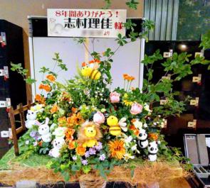 ディファ有明 SUPER☆GiRLS 志村理佳様の卒業ライブ 動物園スタンド花