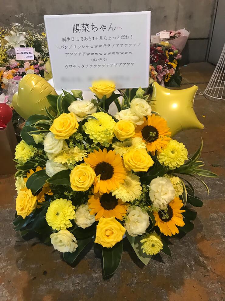 パシフィコ横浜 けやき坂46(ひらがなけやき) 河田陽菜様の握手会祝い花
