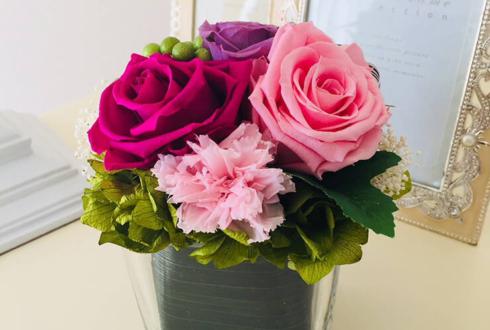 中央区 母の日のプレゼントの花 濃淡ピンク×紫
