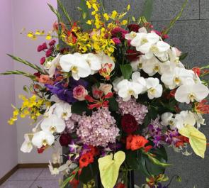 韓国文化院ギャラリー 沈壽官様の個展祝いスタンド花