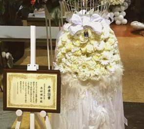 ディファ有明 SUPER☆GiRLS 志村理佳様の卒業ライブ ウェディングドレススタンド花