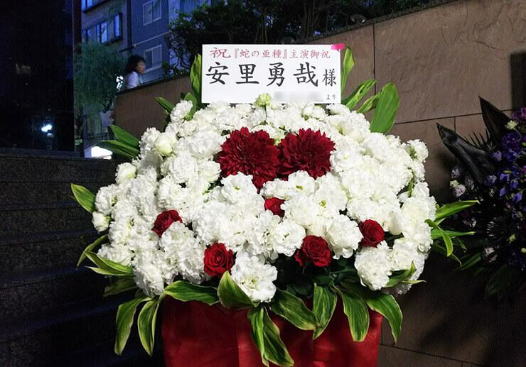 新宿シアターサンモール 安里勇哉様の舞台公演祝いスタンド花