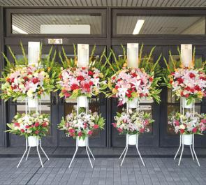 両国国技館 大岩戸様の断髪式セレモニーパーティー祝いスタンド花