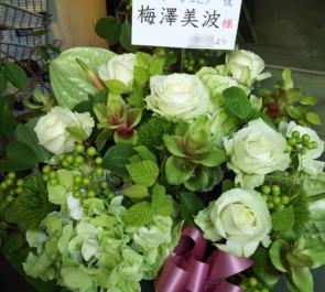 天王洲銀河劇場 乃木坂46 梅澤美波様のミュージカル出演祝い楽屋花