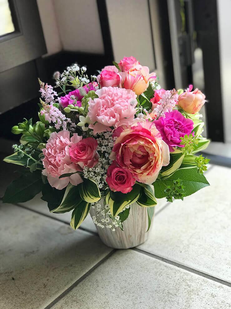 葛飾区金町 お義母さまへのありがとうの花