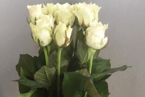 大阪市 お母様の誕生日プレゼントに白バラ花束10本