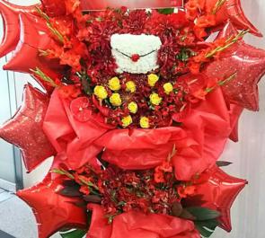 NHKホール 子安武人様のアニメイベント出演祝いバルーンスタンド花