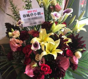 新橋演舞場 春風亭小朝様の独演会祝い楽屋花