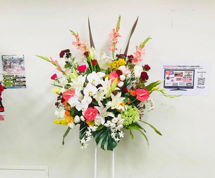 WAROS Studio 今村航様の番組出演祝いスタンド花