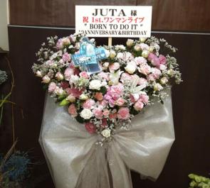 渋谷スターラウンジ JUTA様のワンマンライブ公演祝いハートスタンド花